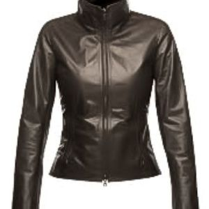 M0851 Brown, Fitted , Leather Jacket